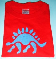 red dinosaur t-shirt crafts