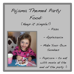 sleepover party theme food
