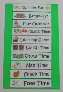 summer fun picture chart