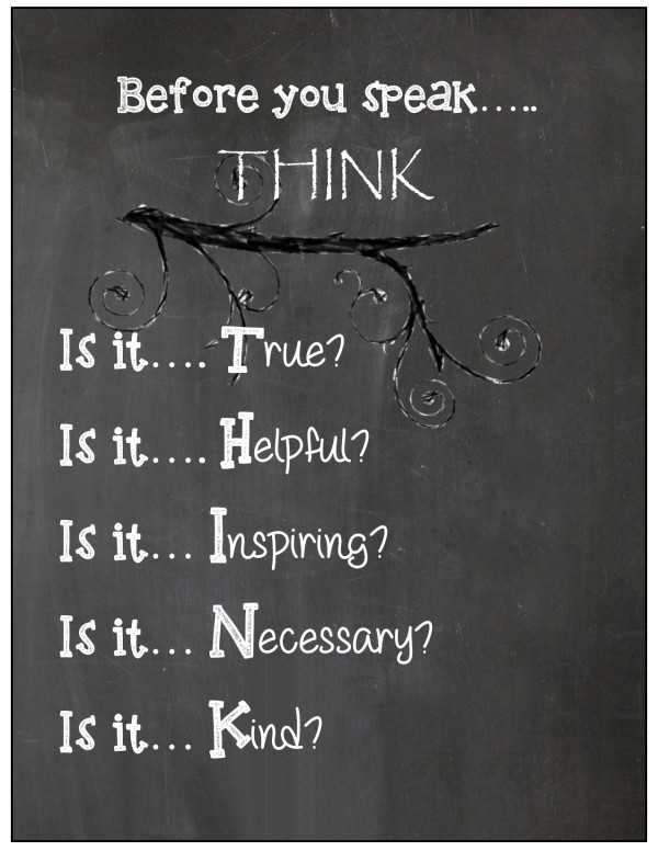 THINK chalkboard poster